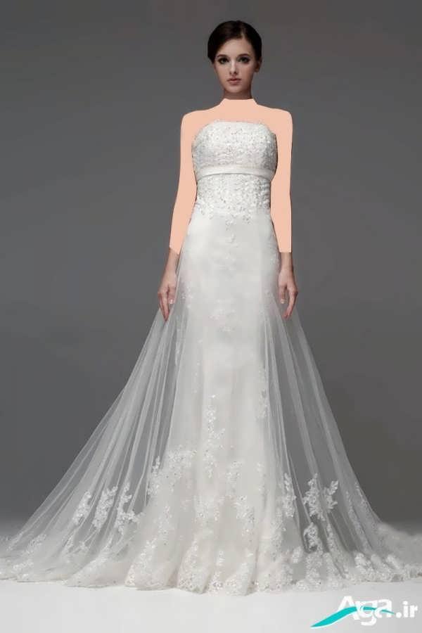 لباس عروس دانتل ساده