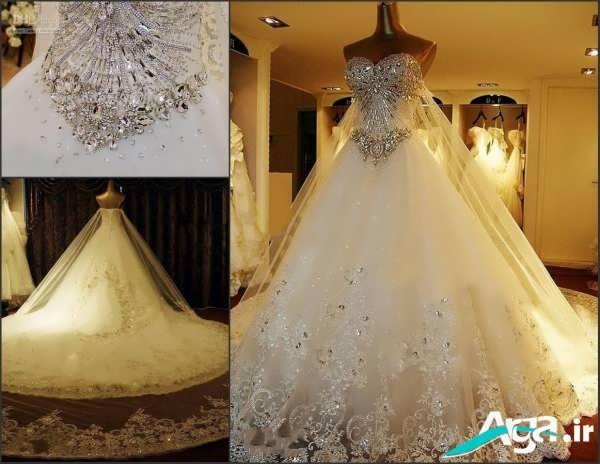 لباس عروس دانتل زیبا