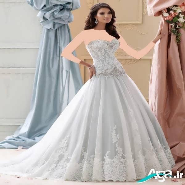 لباس عروس افراد قد کوتاه
