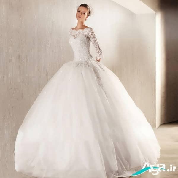 لباس عروس دانتل پفکی