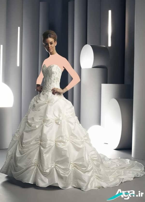 لباس عروس دامن پفکی