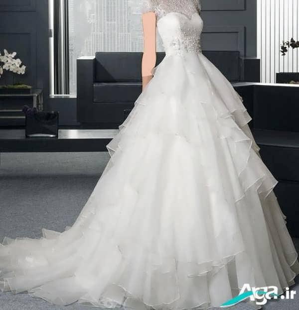 لباس عروس دانتل گن شکل