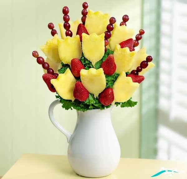 تزیین میو هبه شکل گل