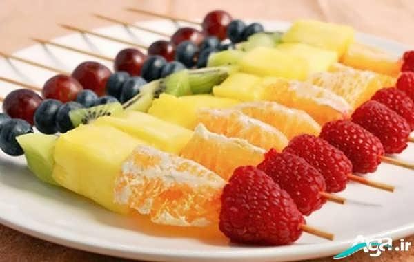 تزیین میوه با سیخ کباب
