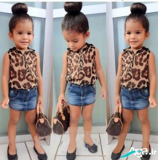 مدل لباس پلنگی دخترانه جدید