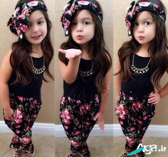 مدل شلوار و کلاه ست بچه گانه دختر