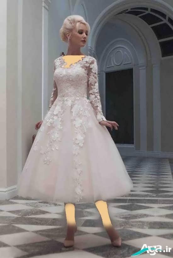 مدل های متنوع لباس عروس کوتاه و بلند گیپور