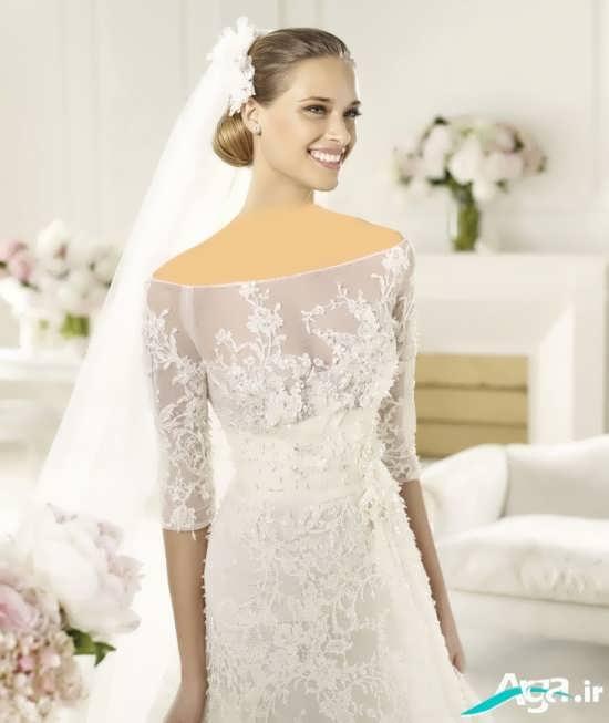 لباس عروس با طرح زیبا و گیپور