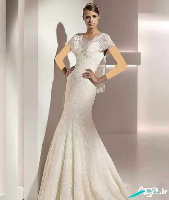 لباس عروس با طرحی متفاوت و جذاب
