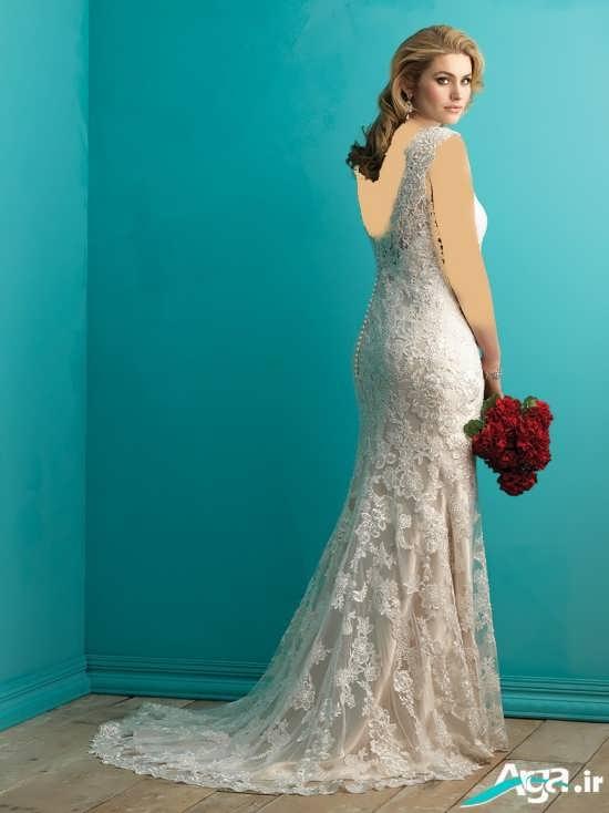 لباس عروس گیپور دنباله دار