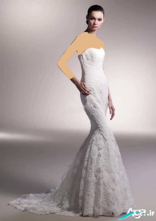 انواع مدل های لباس عروس گیپور