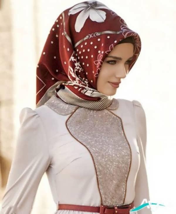 مدل روسری ساتن قرمز