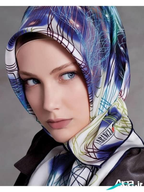 روسری با طرح ابرو بادی