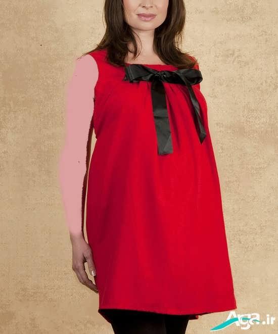 پیراهن قرمز مجلسی برای بانوان باردار