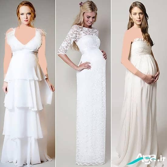 لباس مجلسی بارداری سفید