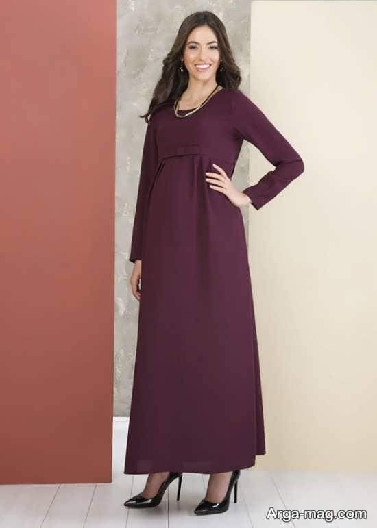 لباس مجلسی حاملگی با طرح زیبا