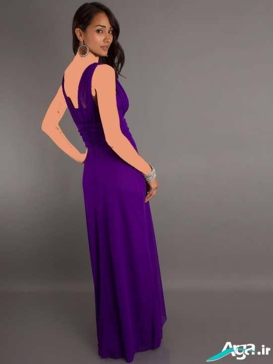 لباس مجلسی یارداری با رنگ بنفش