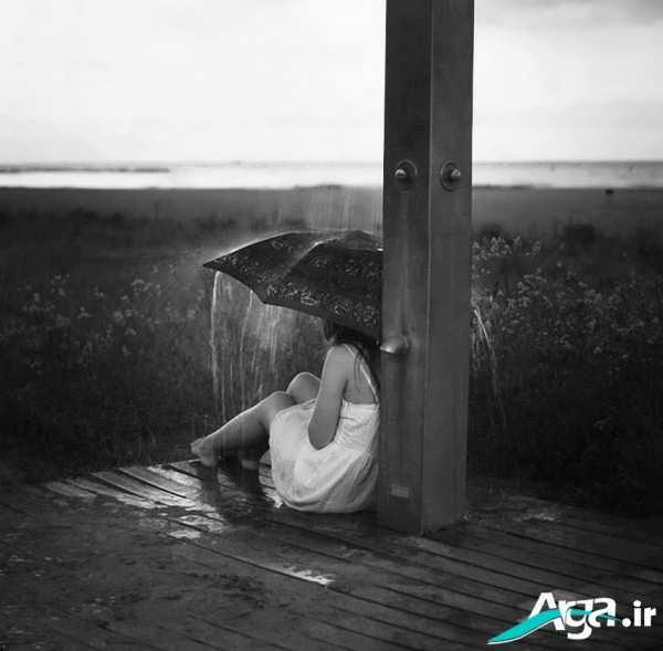 عکس های عاشانه زیر باران