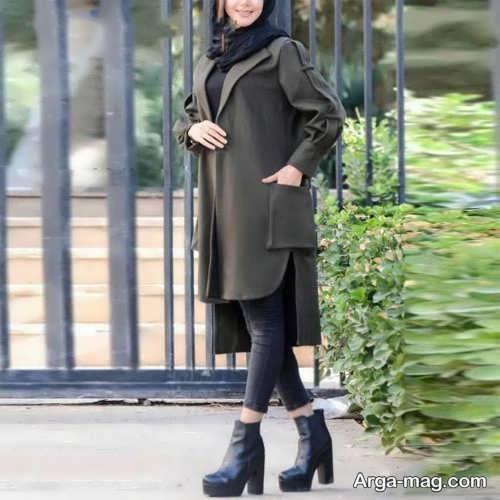 مدل جیب مانتو با طرح بزرگ