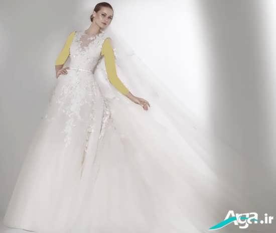 لباس عروس اروپایی با مدلی متفاوت