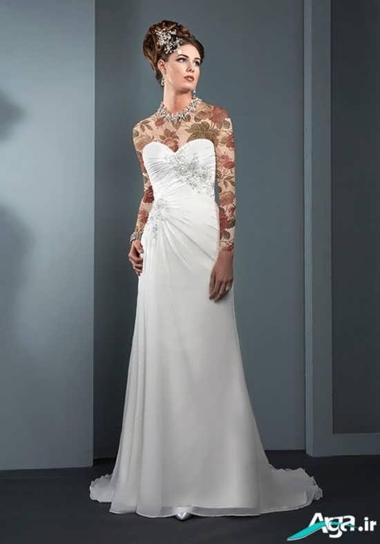لباس عروس سفید و دکلته