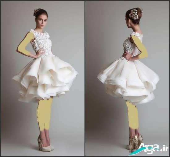لباس عروس کوتاه اروپایی 2016
