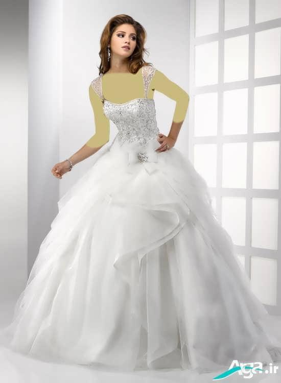 مدل لباس عروس اروپایی 2016 با دامن پف دار