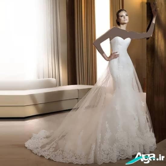 مدل جذاب و ایده آل لباس عروس دنباله دار