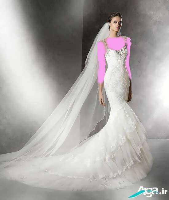 لباس عروس اروپایی شیک و زیبا