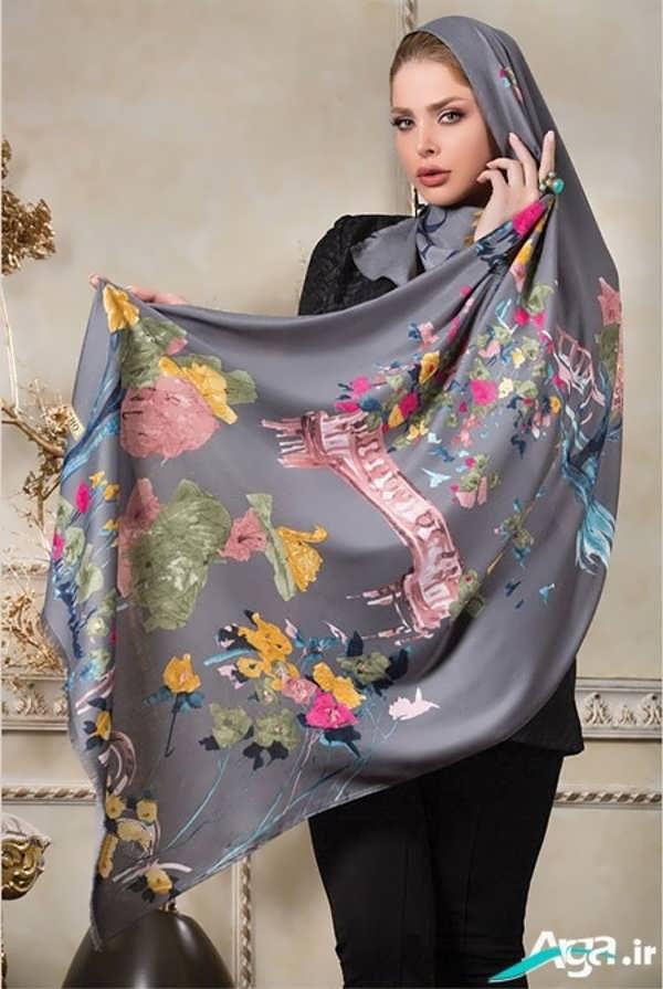 مدل شال و روسری گلدار