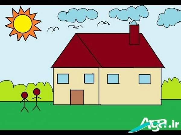 نقاشی خانه و طبیعت
