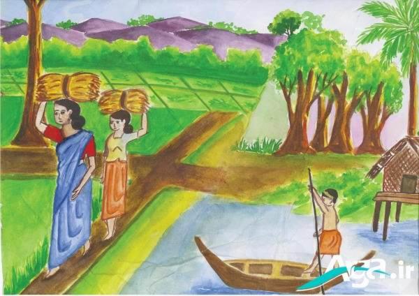زیباترین نقاشی های کودکانه