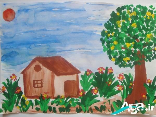 نقاشی آب رنگی کودکان