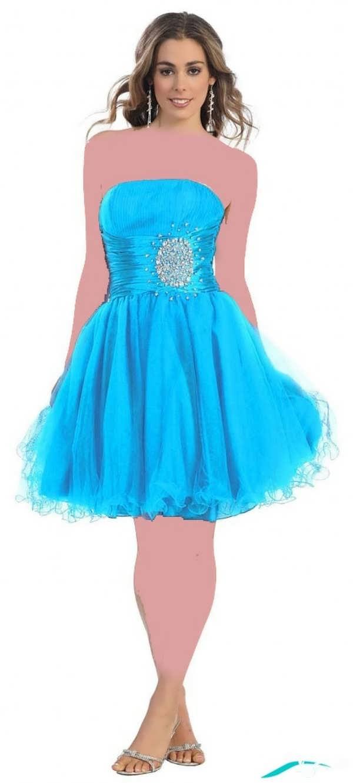 لباس شب آبی رنگ