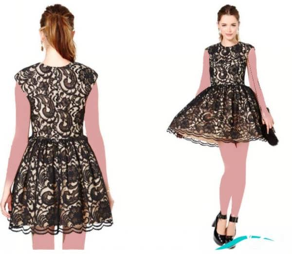 لباس شب با طراحی جذاب