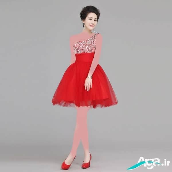لباس شب قرمز دخترانه