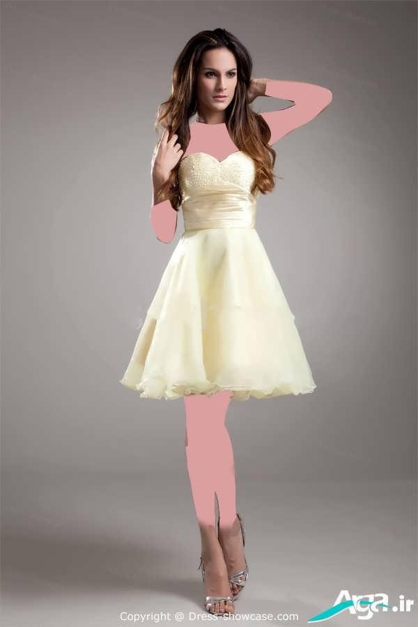 لباس شب دخترانه لیمویی