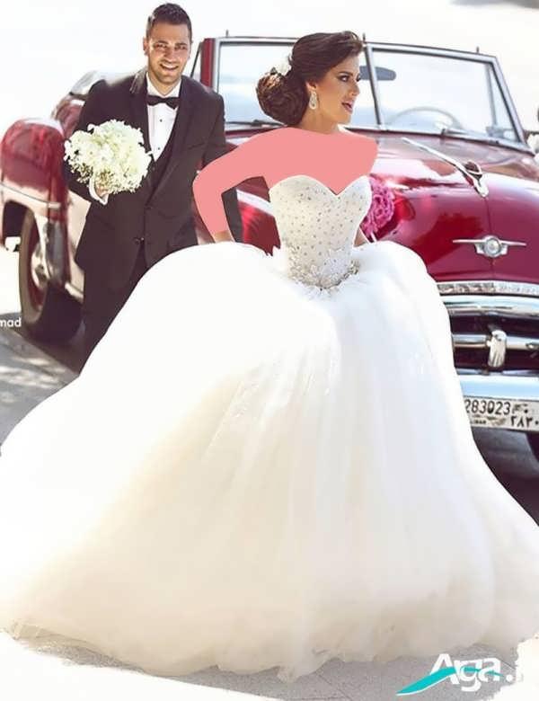 لباس عروس پفی فوق العاده