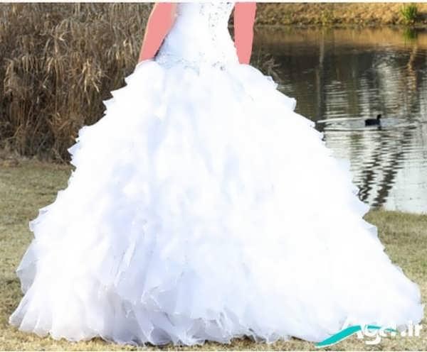 لباس عروس زیبا پفی