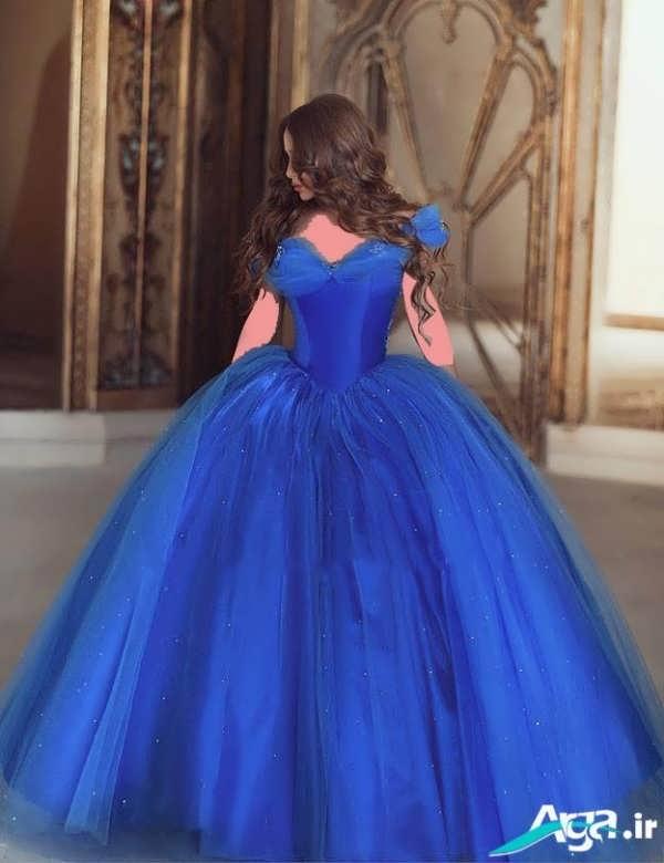 لباس عروس پفی آبی
