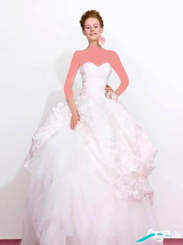 لباس عروس دکلته پفی
