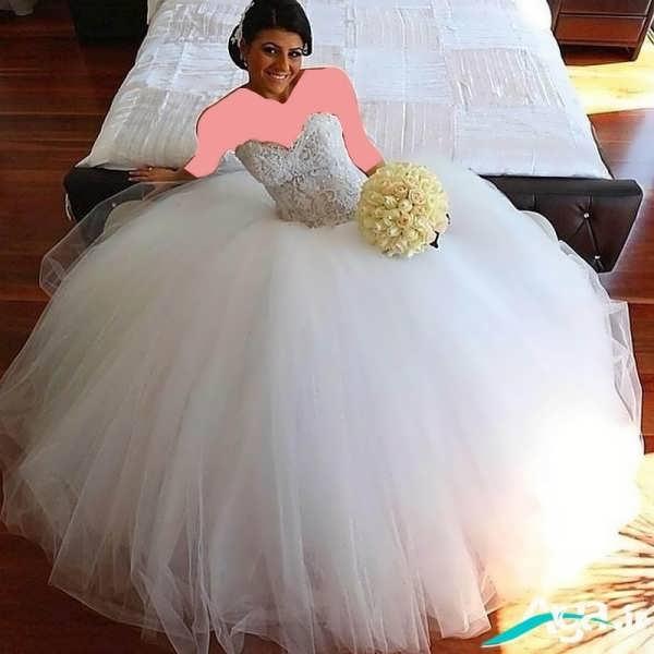 لباس عروس پفی مدرن