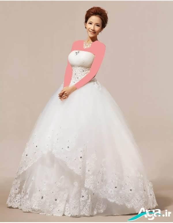لباس عروس پفی ساده