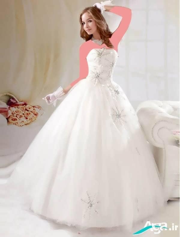 لباس عروس جذاب پفی