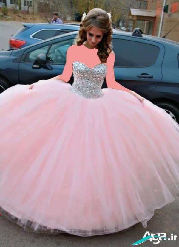 لباس عروس پفی صورتی