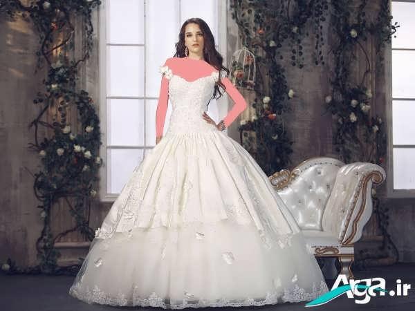لباس عروس پفی جذاب