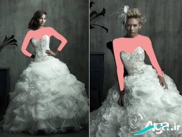 عکس لباس عروس پفی