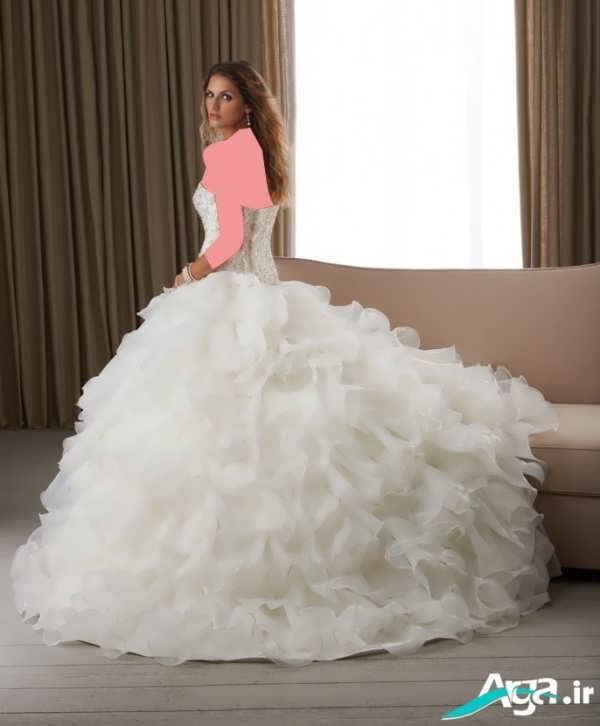 لباس عروس پفی سفید