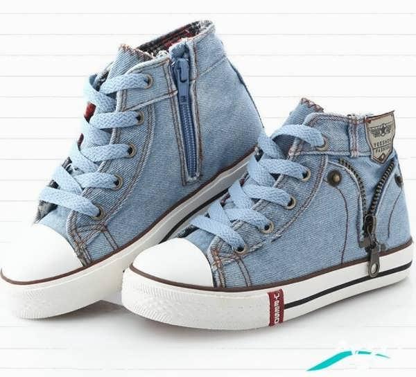 کفش کتانی دخترانه لی آبی