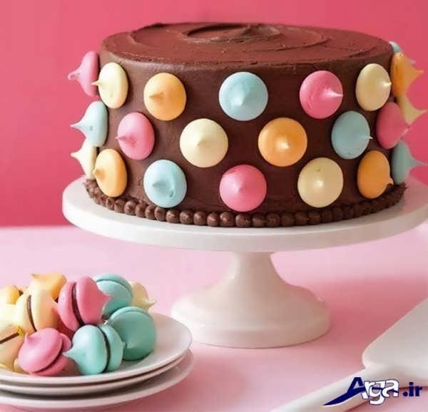 تزیین ساده کیک خانگی